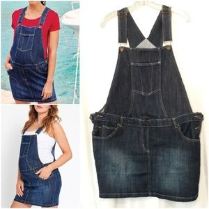 JoJoMaman BeBe Maternity Overall Jean Skirt